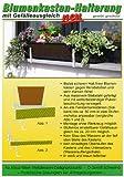 Blumenkastenhalterung mit Gefälleausgleich, weiß