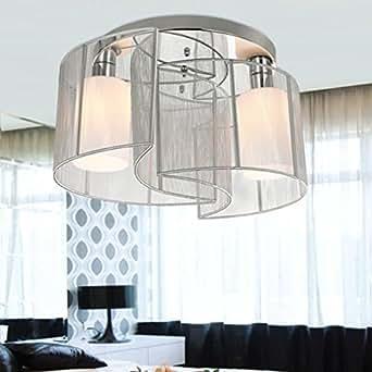 vivreal deckenleuchte deckenlampe h ngelampe pendelleuchte einbau mit 2 lampenschirm new f r. Black Bedroom Furniture Sets. Home Design Ideas