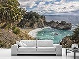 Gewohnheit Irgendeine Größe Coco Big Bay Stream Küste Schöne Landschaft 3D Hintergrund Wandaufkleber Malerei Wohnkultur Tapet