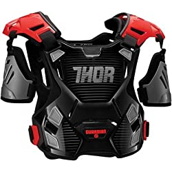 Thor 2701-0791 Peto de motocross Guardian Protector M/L–Negro y Rojo