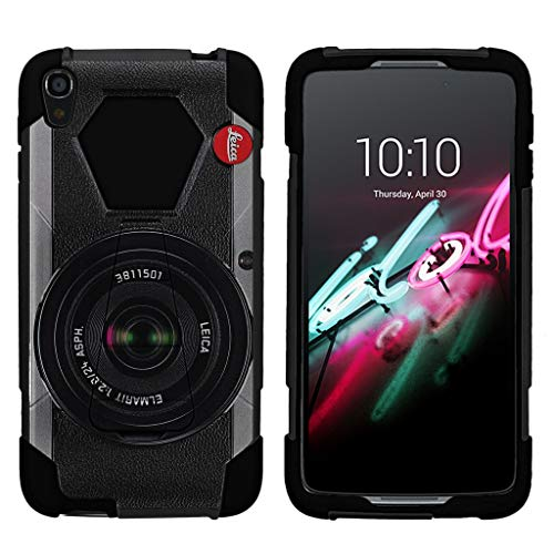 Case for Idol 3 (5.5) Alcatel Idol 3 Case[Shock Fusion] Shockproof Hybrid Kickstand Case Idol 3 with Kickstand by Miniturtle - Retro Camera