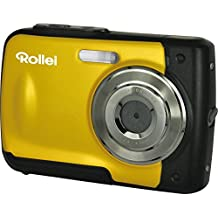 Rollei Sportsline 60 - vielseitige Digitalkamera mit 5 MP, 8-fach digitalem Zoom, 6 cm Display (2,4 Zoll), bildstabilisiert, spritzwasserfest und wasserdicht bis 3m - Gelb