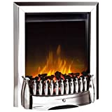 Dimplex Exbury Chrome Optiflame Freestanding or Inset Electric Fire