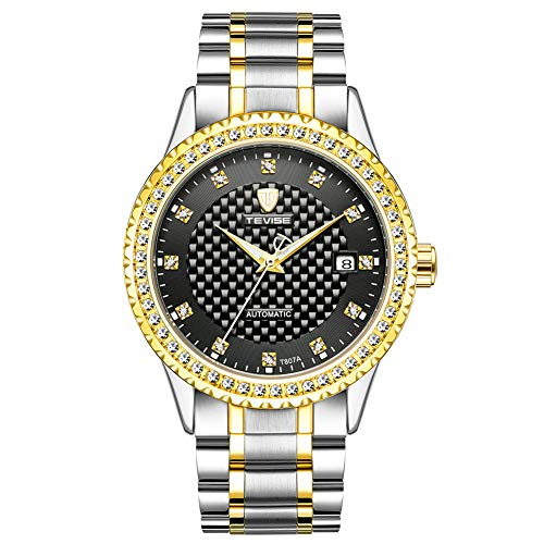 Watches Business Leisure Drill Insert Men's Automatic Mechanical Calendar Waterproof Meter - Drill Insert