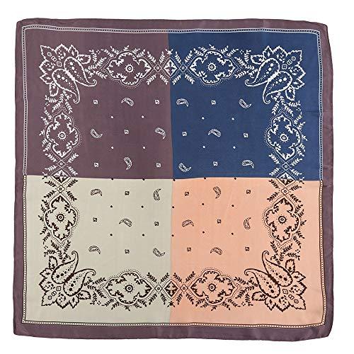 GreatestPAK Damen Schal Sonnenschirm kleine quadratische Kopfschmuck gedruckt Vintage Mode Platz...