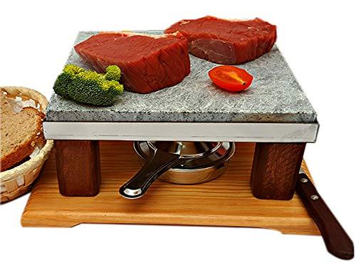 Piedrasar Piedra para Asar Carne Quemador de Alcohol