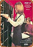 OURTrade 8 x 12 Tin Metal Sign - Vintage Look 1970 DEC PDP-11