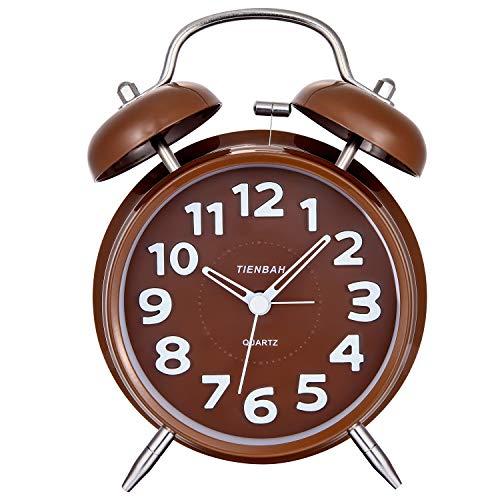 SOCICO Reloj Despertador,Clásico Doble Campana Despertador con Luz de Noche, 4 Pulgadas...