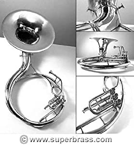 Classic Streetband Zweiss Bb All-Brass Sousaphone. 21 Inch Baby Bell. Compact Size.