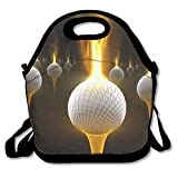 CUAJH Golf Fire Cool Lunch Tote Bags Awesome Lunch Box Borsetta portapranzo per Scuola Lavoro all' Aperto