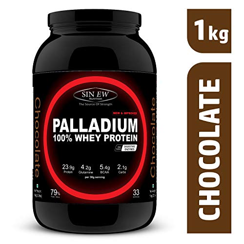 Sinew Nutrition Palladium Whey Protein with Digestive Enzymes, 1 kg...
