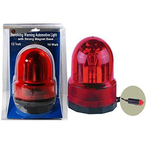 SE FL-10RWL Revolving Warning Automotive Light, Red by Sona Enterprises Revolving Warning Light