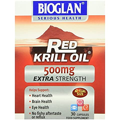 Red Krill Oil - 500mg Extra Strength -