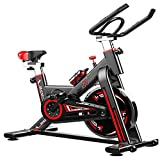 FMTMY Fitness Indoor-Radsport Trainer Übung Spinning Bike-Professionelles Übungs Fahrrad Stationäres Fahrrad Für Home-Cardio-Fitness-Training, Fahrrad-Flaschenhalter, Stationär