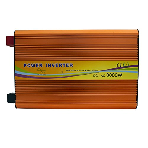ECO-WORTHY 3000 Watts Off Grid Power Inverter 24 Volt DC to 220 Volt AC for Solar Panel System