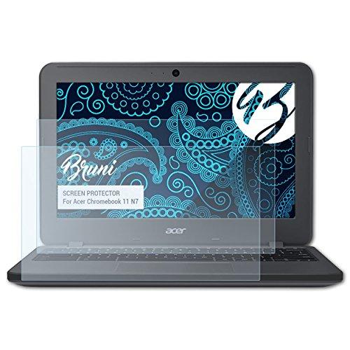 Bruni Schutzfolie kompatibel mit Acer Chromebook 11 N7 Folie, glasklare Bildschirmschutzfolie (2X)