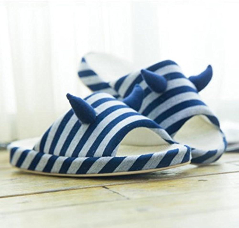 MHGAO Zapatillas para hombre en casa antideslizantes de interior – zapatillas de algodón cálido casual 1, mediano