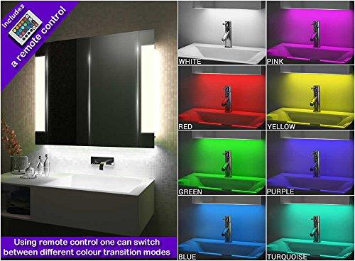 Diamond X Collection Schrank mit SpiegelheizungRGB-UnterlichtSensor & Rasiersteckd innen Bild 3*