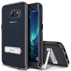 Galaxy S7 Edge Case, OBLIQ [NaKED SHIELD][Black][Metal Kickstand] Slim Fit Crystal Clear Scratch Resist Heavy Duty Protection Dual Layer Case for Samsung Galaxy S7 Edge