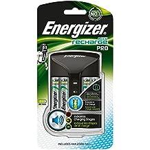 Energizer 639837 Pro Charger Caricatore, 4 AA, Stilo, 2000 mAh, Nero