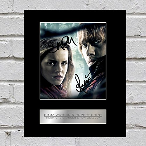 Emma Watson y Rupert Grint firmado foto enmarcada Hermione Granger y H