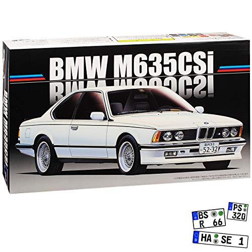 B-M-W 6er 635 CSI E24 Coupe Weiss 1975-1989 Kit Bausatz 1/24 Fujimi Modell Auto