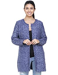 MansiCollections Blue Casual Cardigan For Women