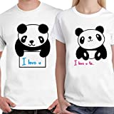 #5: DreamBag Couple T - Shirt- I LOVE YOU Cute Panda Unisex Couple T-Shirt