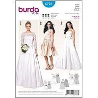 Patrón de Burda 6776 Vestido de novia y vestido de fiesta