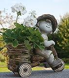 """Gartenfigur """"Mädchen auf Fahrrad als Pflanztopf"""" - Garten, Figur, Kinder"""