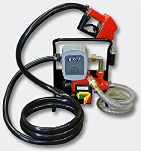 Pompe à fuel ou gasoil bio autoaspirante mobile 230V/600W pistolet automatique