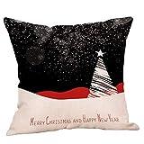 LoveLeiter Weihnachten Dekorative Kissenbezug Zierkissenbezüge, Sofa Lendenkissen Wurf Wohnkultur Kissen Zierkissen Schlafzimmer, 45cm x 45cm Weihnachts Leinen Umarmung Kissenbezug