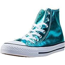 Converse All Star Metallic Hi Top Boots (Fresh Cyan)