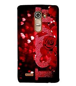 Print Masti Designer Back Case Cover for LG G4 Mini :: LG G4c :: LG G4c H525N (Design Flower Background Red )