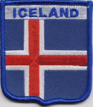 Bandera de Islandia parche a386