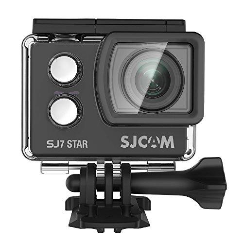 "4K Sport Action Camera,SJCAM SJ7 Star WIFI Waterproof Camera- 4K/30FPS Ambarella Chipset /2""Touch Screen/Sony Sensor/Remote Control/Microphone Supported/Gyro Stabilization(Black)"