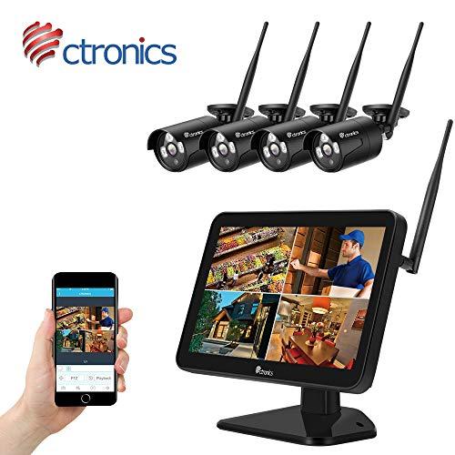 (H.265) Ctronics überwachungkamera Set mit 2MP 12