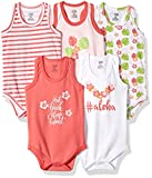 Luvable Friends Baby 5-Pack Lightweight Sleeveless Bodysuits, Aloha, 3-6 Months