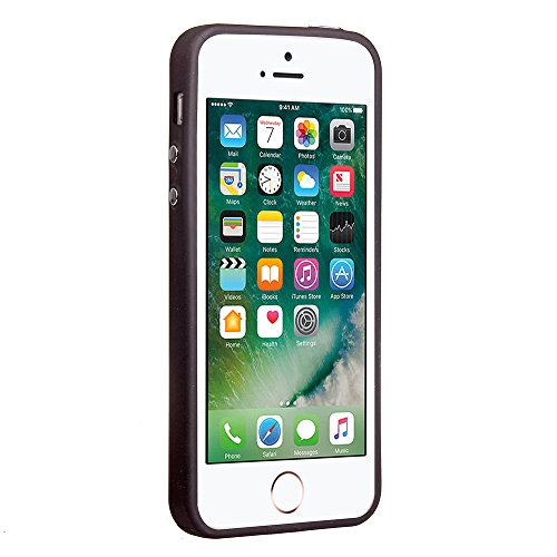 iPhone 5S / iPhone SE Hülle, Voguecase Silikon Schutzhülle / Case / Cover / Hülle / TPU Gel Skin für Apple iPhone 5 5G 5S SE(Galvanisches Webmuster -schwarz) + Gratis Universal Eingabestift Galvanisches Webmuster -Grau
