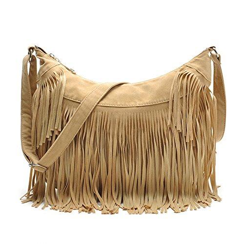 Sonderverkauf!Mode Handtaschen,Hippie-Stil Wildleder Hobo Cross Body Strap Umhängetasche Frauen Satchel. (Handtasche Stil Hobo)