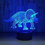 Creative 3D Veilleuse Dinosaure Illusion 3d Lampe De Table LED 7 Changement De Couleur Acylic USB Capteur À Distance Tactile Lumière han-8717...