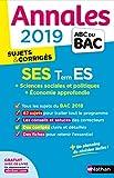 Annales ABC du BAC 2019 - Sciences Economiques et Sociales - Term ES...