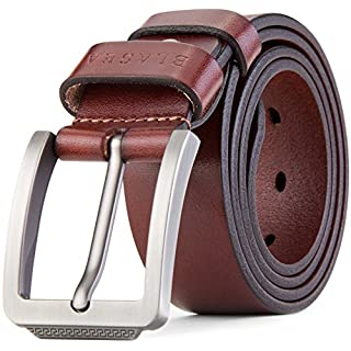 Blasea Full Grain Leather Casual Style Belts for Men 658 Brown 125cm