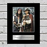 Johnny Depp et Orlando Bloom Photo dédicacée encadrée Pirates of the Caribbean