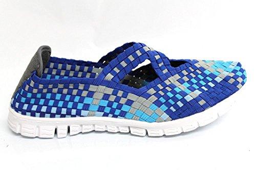 Adesso Mila pour femme Bleu Multi Casual légère d'été Chaussures Taille 3–8 Bleu - bleu