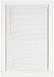Achim Home Furnishings Deluxe Sundown 1-Inch Blind, 27-Inch by 64-Inch, White