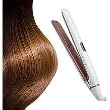 2 en 1 plancha de pelo y rizador profesional cerámica turmalina placa ancha plana