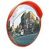 Wiltec Specchio parabolico per Traffico Stradale Specchio di Sicurezza sorveglianza Convesso 60 cm