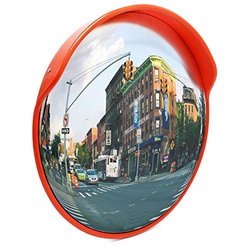 Wiltec Specchio parabolico per Traffico Stradale Specchio di Sicurezza sorveglianza Convesso 80cm