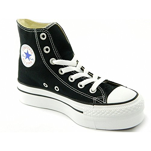 Converse - Converse All Star CT Platform Hi Scarpe Donna Nere Tela 540169c - Nero, (Converse Donna All Star Hi)